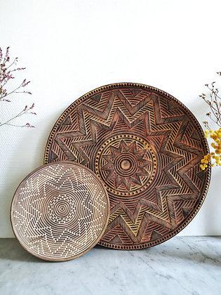 Plateau décoratif au motif ethnique Madam Stoltz - Décoration Marseille - Trois Fenêtres