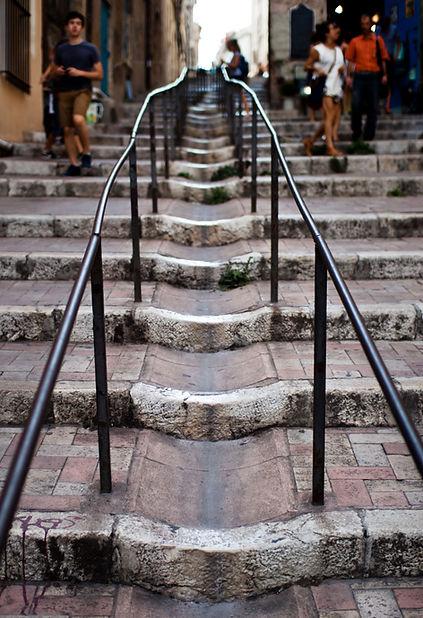 Montée des Accoules au Panier Marseille