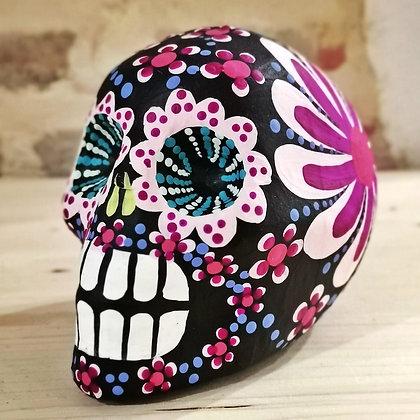 Petit crâne mexicain noir - décoration Dia de los Muertos