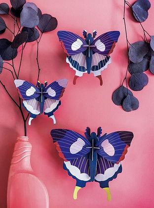 Deco murale papillons bleu - puzzle 3d Studio Roof - Marseille
