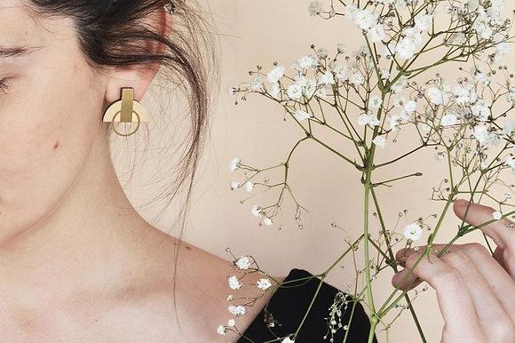 Boucles d'oreilles Eventail