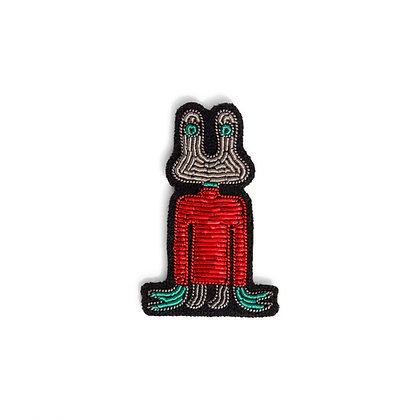 Broche Extra-terrestre rouge - Macon & Lesquoy   Trois Fenêtres