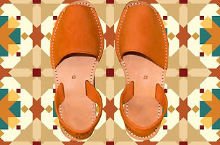 Sandales Avarcas Femme orange