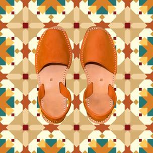Avarcas Minorquines Orange Nubuck