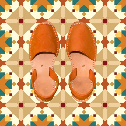 Avarcas Minorquines Orange Nubuck