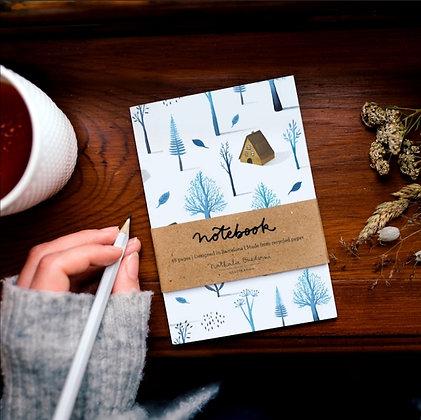 Petit cadeau carnet de note pour l'hiver