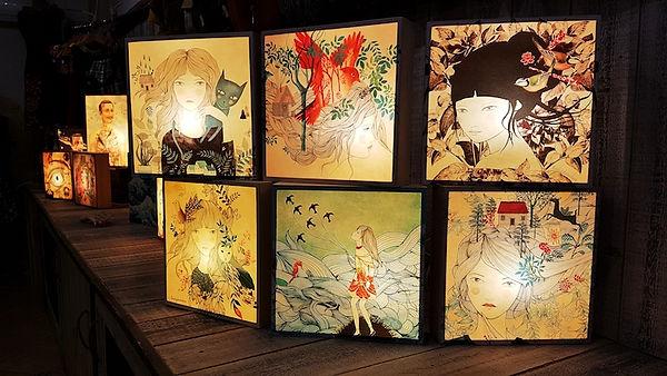 Light box - Boite à lumiere illustrées - Marseille