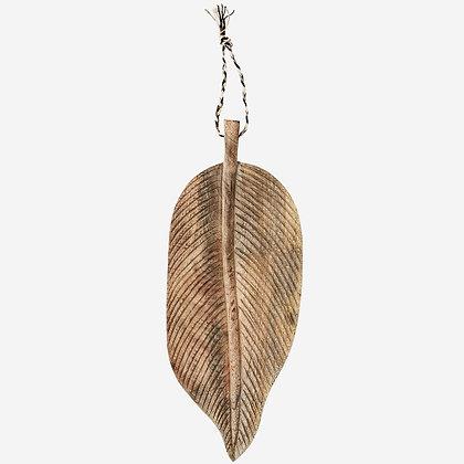 Planche à decouper bois massif de manguier - Planche décorative en forme de feuille - Madam Stoltz