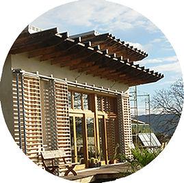Construction en bois et paille - Maison bioclimatique - Souad Rabhi Architecture écologique