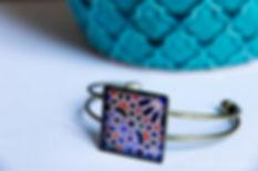 Bracelet Céramique bleues - Bijou original à Marseille