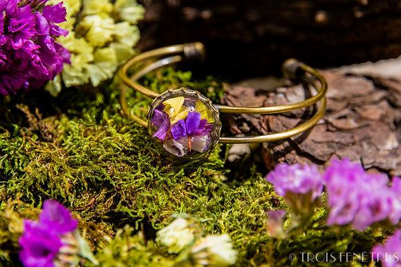 Bracelet fleurs de lavande de mer