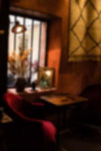 Intérieur cosy restaurant Ahwash - Le Panier de Marseille