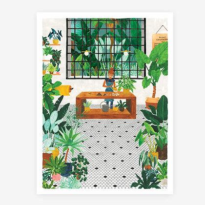 Affiche ambiance tropicale La Fleuriste - Affiche pour deco jungle - Marseille