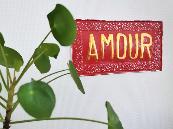 Plaque murale Amour