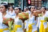 Cérémonie du Nyepi - Nouvel an balinais - Offrande au temple à bali