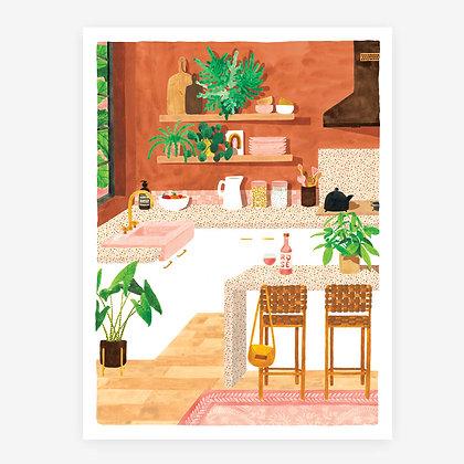 Affiche Kitchen - Déco cuisine style vintage - Marseille