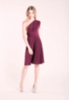 Infinity dress - robe demoiselle d'honneur bordeaux