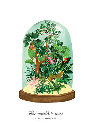 Poster foret tropicale dans un terrarium - World to protect - Marseille