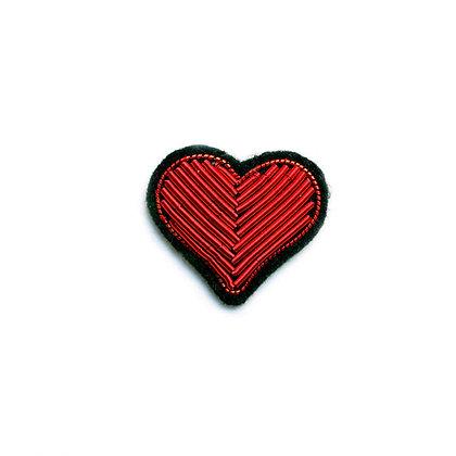Broche Coeur rouge - Macon & Lesquoy - Marseille