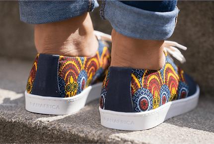 Chaussures panafrica - Imprimé wax