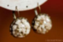 Boucles d'oreilles de gypsophile - bijoux parfait pour une mariée et ses demoiselles d'honneur - Création marseillaise