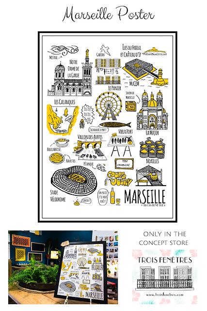 Poster Marseille - Trois Fenetres - LPM.