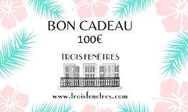 Bon cadeau à imprimer de 100 euros - carte cadeau en ligne ou en boutique Marseille