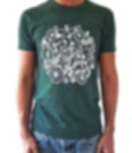 T-shirt vert pour homme - design velo bi