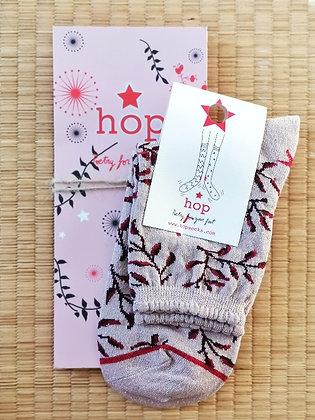 Chaussettes pour femme paillettes roses - Idee cadeau - Hop Socks