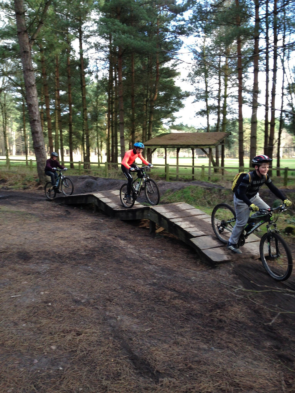 Miles and friends on Skills Track at Pines