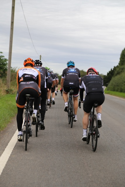 Group riding from behind