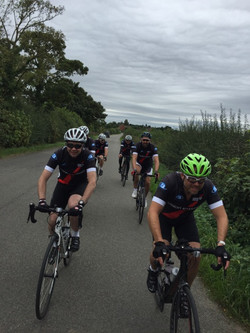 Group riding from front