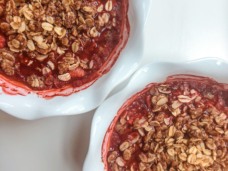 Summer Strawberry Crisp