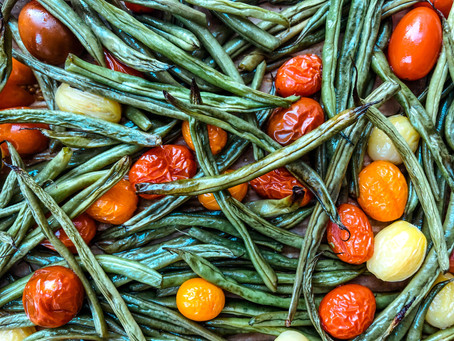 Roasted Green Beans & Tomatoes