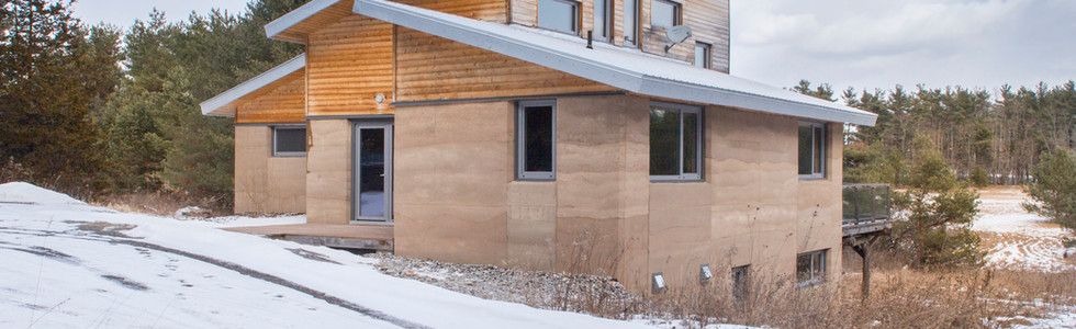 Castleton Rammed Earth Home