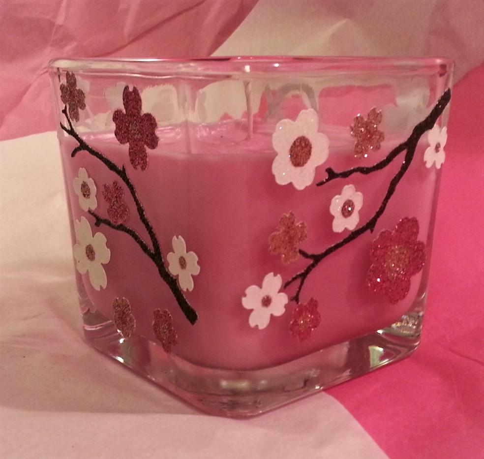 Custom Decorated Candle