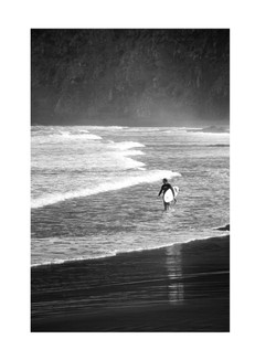 Surfer exiting close