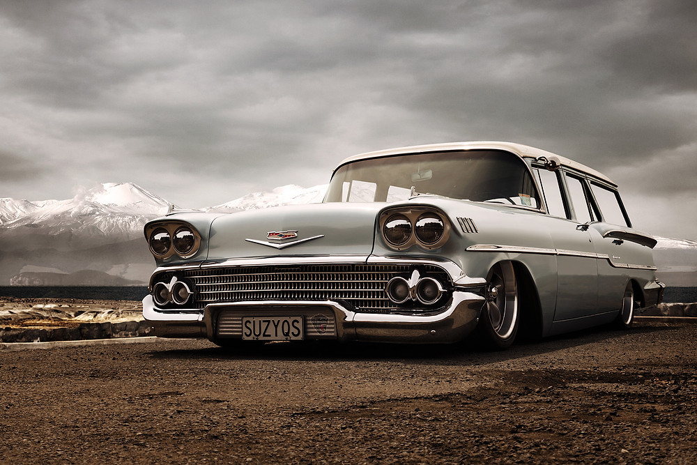 Chevy Station wagon - skilled Photoshop execution