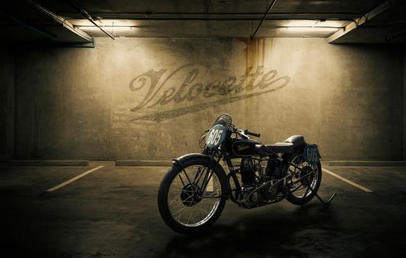 Velocette racing motorbike