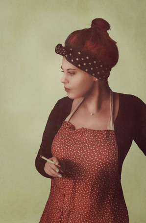 Vintage pin up photomanipulation