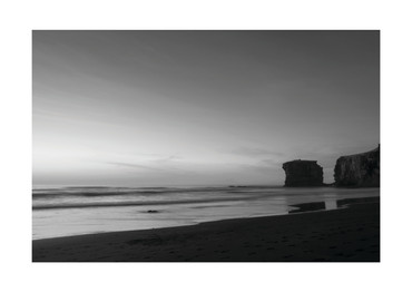 Maori Bay black and white
