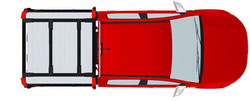 GTWORKS Traysformer Cab Height Roof Rack System D
