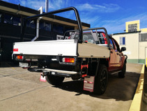 NISSAN NAVARA D40 UTE TRAY GTWORKS  RED