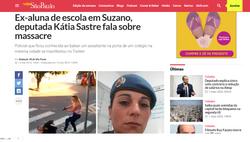 Ex-aluna de escola em Suzano, deputada Kátia Sastre fala sobre massacre