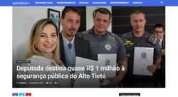 Deputada destina quase R$ 1 milhão à segurança pública do Alto Tietê