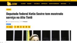 Deputada Katia Sastre tem mostrado serviço no Alto Tietê