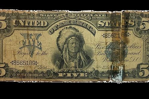 1899 $5.00 Silver Certificate