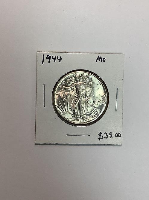1944 Walking Liberty Half Half Dollar MS