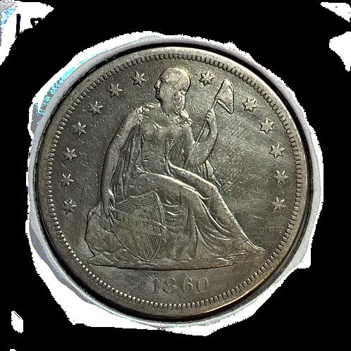 1860 O Seated Dollar VF-30