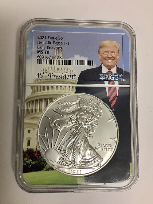 2021  EAGLE S HERALDIC T-1 EARLY RELEASE  MS-70